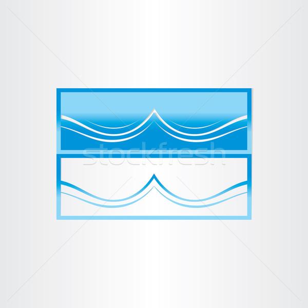 Tenger hullám absztrakt ikon terv óceán hullám Stock fotó © blaskorizov