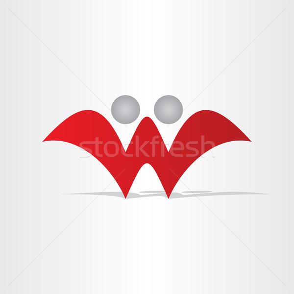 List w streszczenie ludzi projektu charakter ikona Zdjęcia stock © blaskorizov