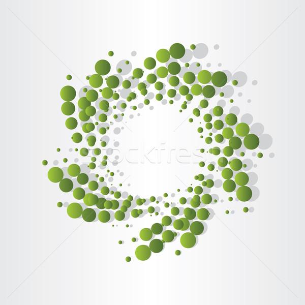 green atoms micro eco design Stock photo © blaskorizov
