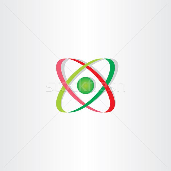 Icono átomo símbolo logo vector signo Foto stock © blaskorizov