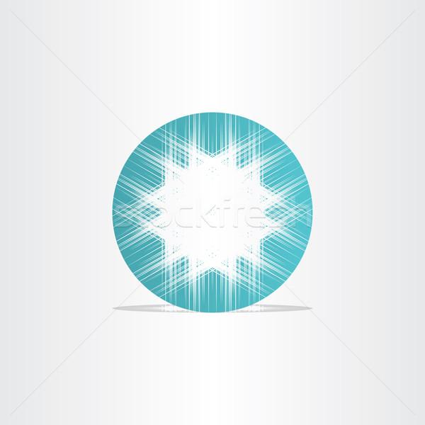 Türkiz csillag absztrakt kör terv üzlet Stock fotó © blaskorizov