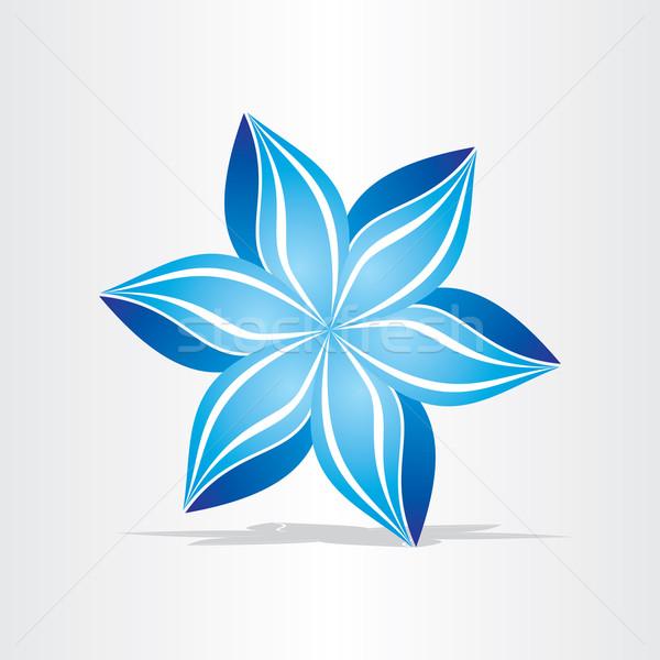 синий цветок аннотация дизайна стилизованный икона Сток-фото © blaskorizov