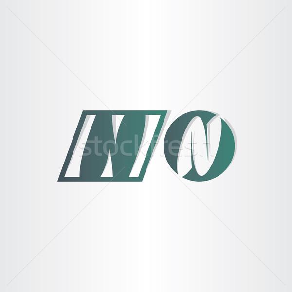 letter n icons abstract design Stock photo © blaskorizov