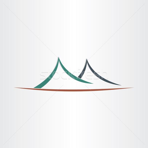 山 風景 シンボル 抽象的な アイコン 岩 ストックフォト © blaskorizov