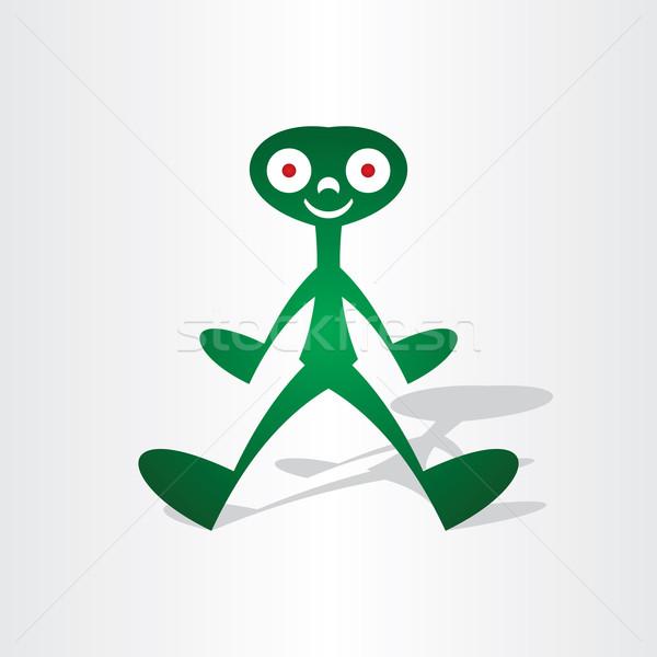 Alienígena homem abstrato ícone projeto sorrir Foto stock © blaskorizov