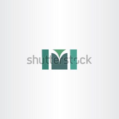 Karanlık yeşil mektup m logo vektör simge Stok fotoğraf © blaskorizov