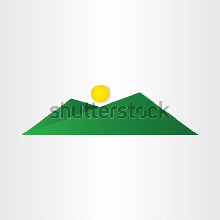 abstract green mountain with sun Stock photo © blaskorizov