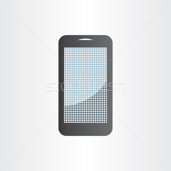 Android mobiele telefoon tablet icon symbool Stockfoto © blaskorizov