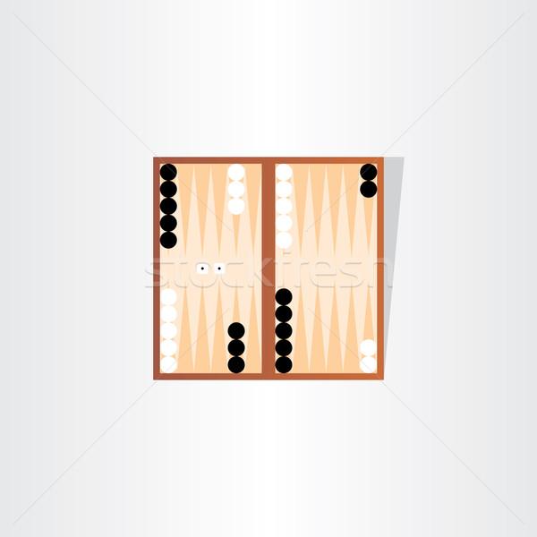 backgammon tournament icon design Stock photo © blaskorizov