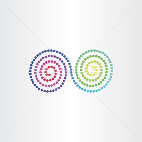 Infini couleur symbole design fond Photo stock © blaskorizov