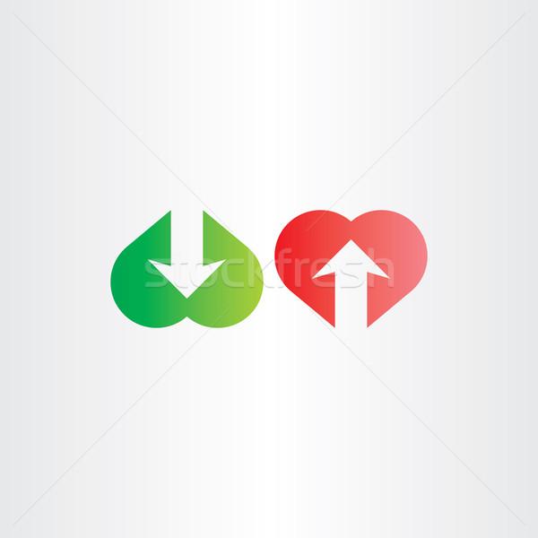 upload and download heart arrow symbol Stock photo © blaskorizov