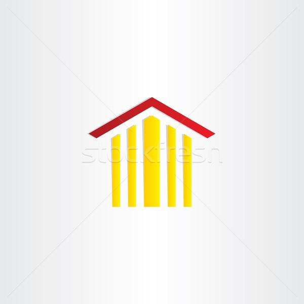 Tribunal edificio clipart diseno vector signo Foto stock © blaskorizov
