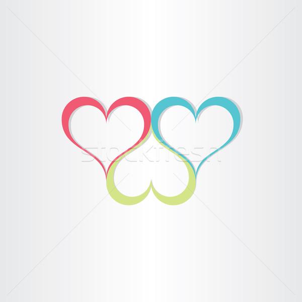 Szín szívek szeretet szimbólum terv esküvő Stock fotó © blaskorizov
