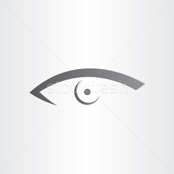 Insan göz stilize ikon optik makyaj Stok fotoğraf © blaskorizov