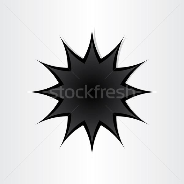 звездой форма дыра бумаги аннотация символ Сток-фото © blaskorizov