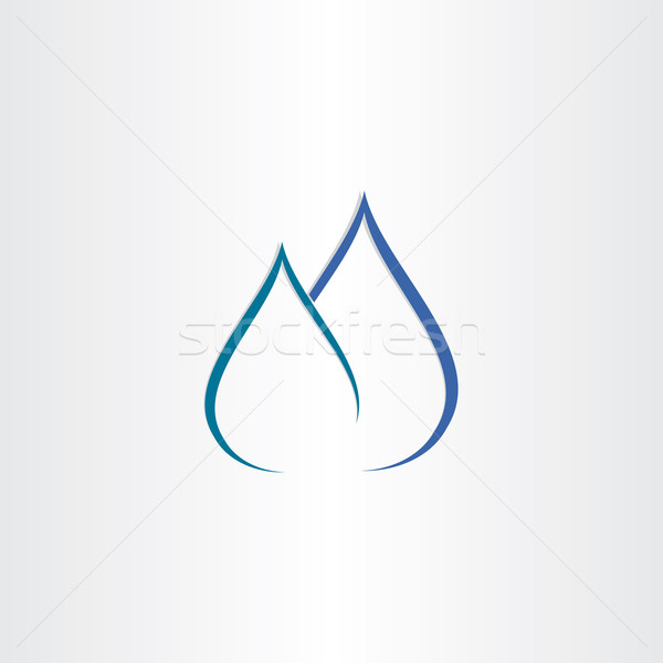 Stockfoto: Druppels · water · gas · vlam · icon