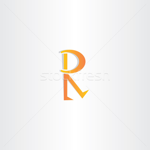 letter r orange icon vector symbol Stock photo © blaskorizov