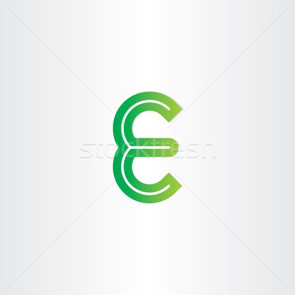 green letter e symbol design Stock photo © blaskorizov