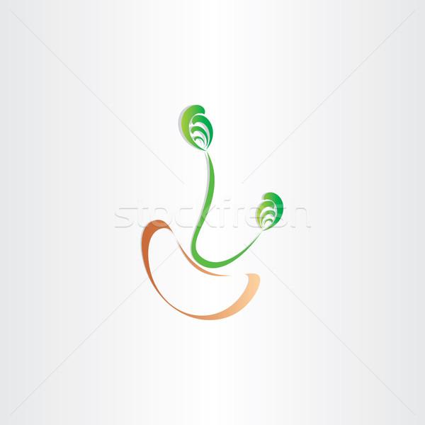 grain bean germination seed icon vector Stock photo © blaskorizov