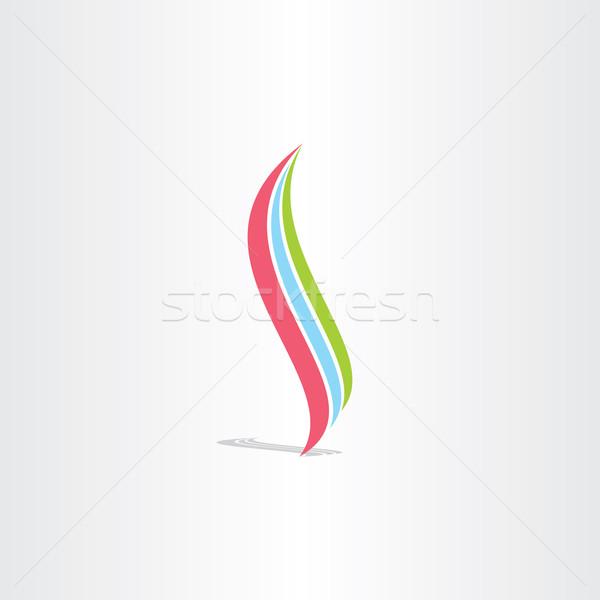 healthy spine colotful icon logo Stock photo © blaskorizov