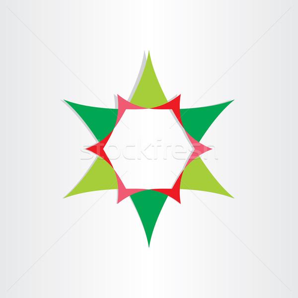 Verde star testo finestra abstract illustrazione vettoriale blasko rizov - Testo a finestra ...