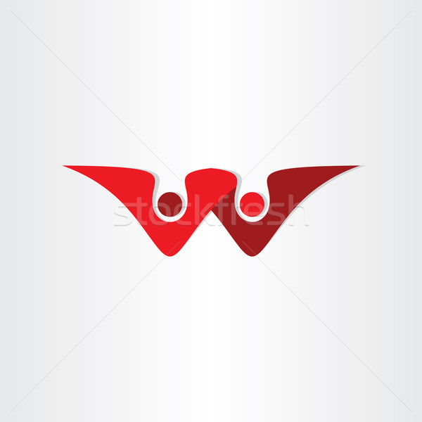 List w ludzi biznesu symbol projektu graficzne nowoczesne Zdjęcia stock © blaskorizov