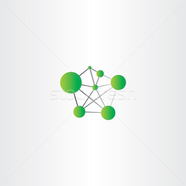 molecule icon green vector logo Stock photo © blaskorizov