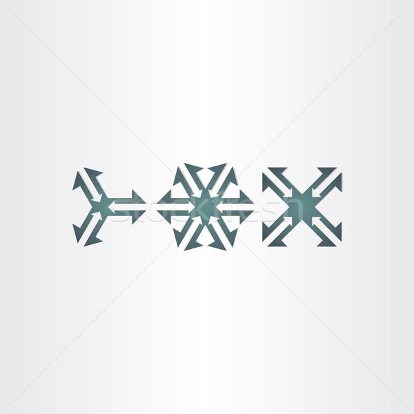 Három nyilak szimbólum szett vektor ikonok Stock fotó © blaskorizov