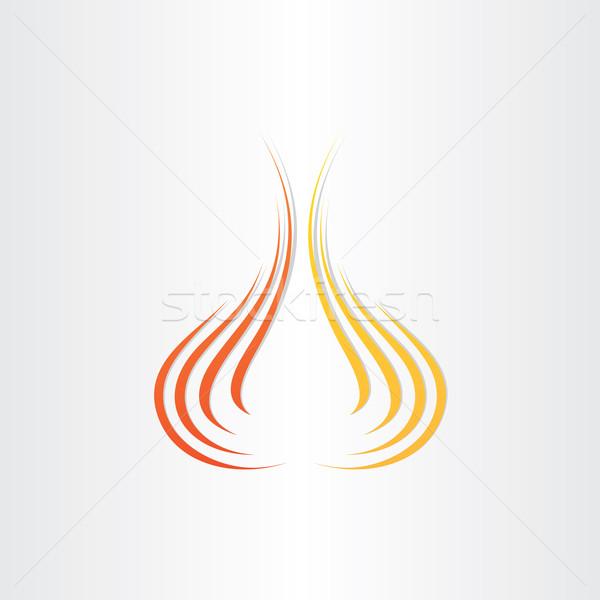 abstract fire symbol background Stock photo © blaskorizov