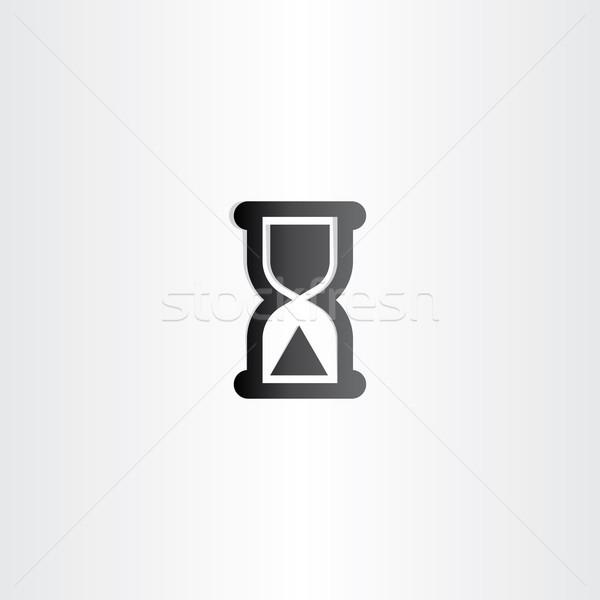 black sand clock icon time concept Stock photo © blaskorizov