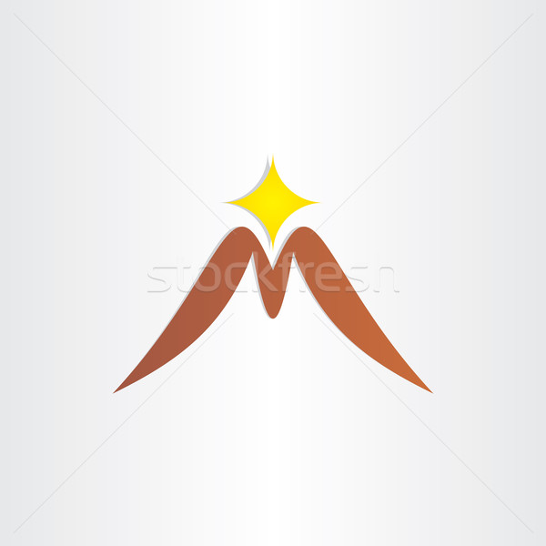 mountain letter m symbol Stock photo © blaskorizov