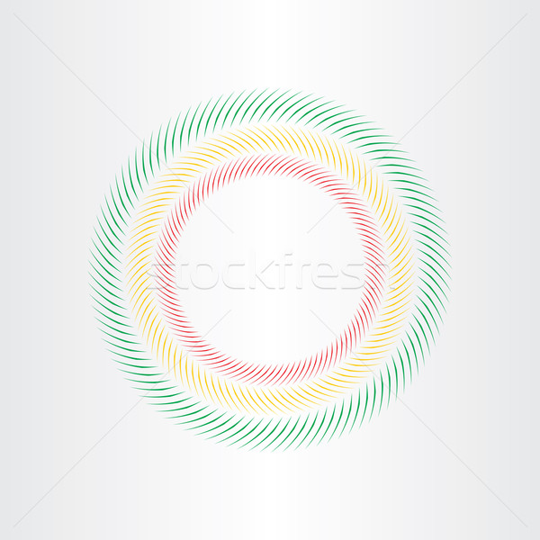 optical illusion circle vector element Stock photo © blaskorizov