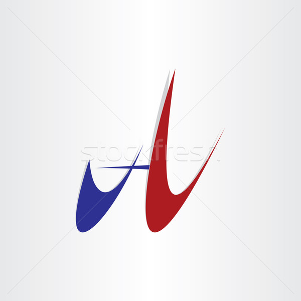 letter a abstract stylized design icon Stock photo © blaskorizov