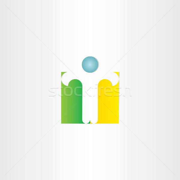 Letra t hombre pie icono diseno negocios Foto stock © blaskorizov