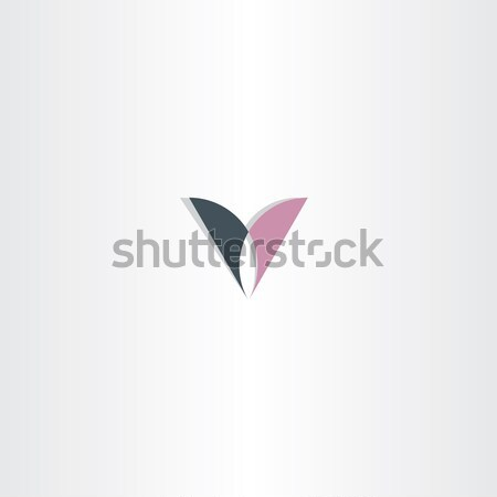 black purple letter v logo vector design icon Stock photo © blaskorizov