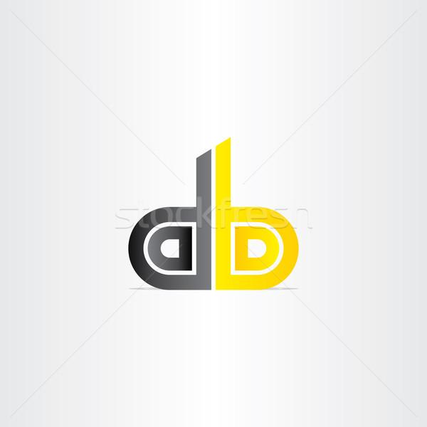D betű üzlet ikon terv felirat levél Stock fotó © blaskorizov