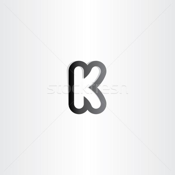 black letter k logotype icon Stock photo © blaskorizov