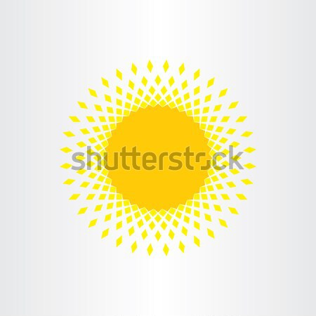 sun icon solar energy yellow symbol Stock photo © blaskorizov
