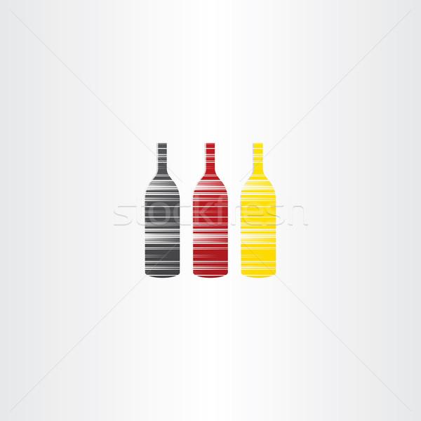 wine bottles stylized icons Stock photo © blaskorizov