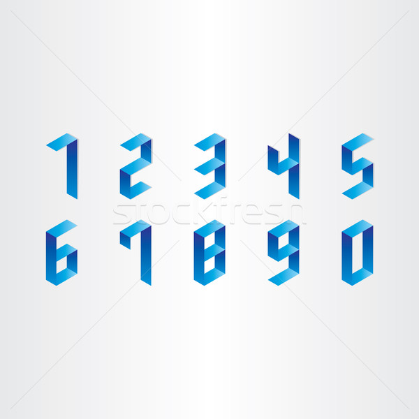 numbers from 0 to 9 3d design Stock photo © blaskorizov