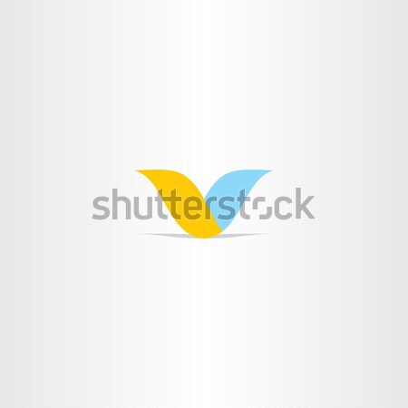 book and feather education icon Stock photo © blaskorizov