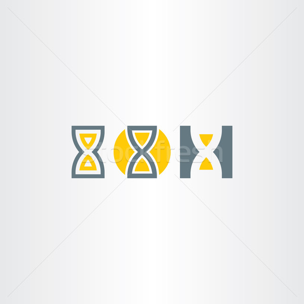 sand clock icons set vector Stock photo © blaskorizov