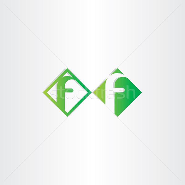 green letter f icons design Stock photo © blaskorizov