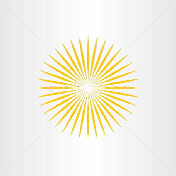 Absztrakt nap napsütés ikon terv szimbólum Stock fotó © blaskorizov