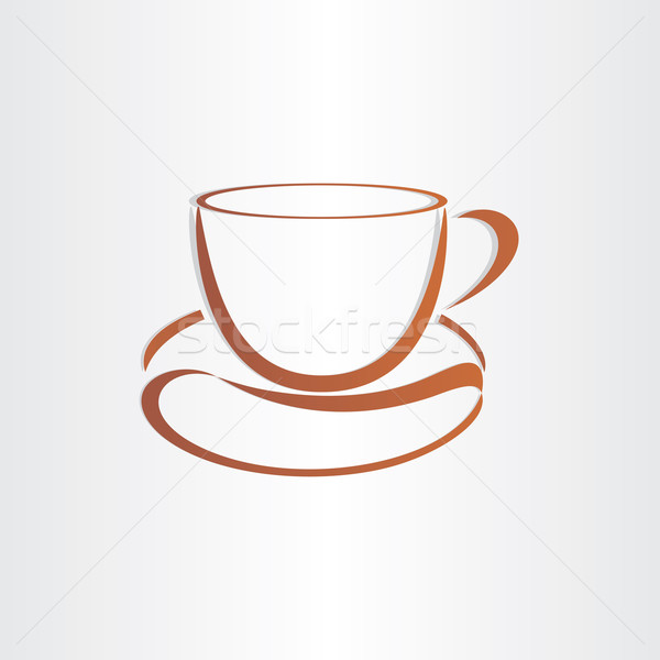 Xícara de café grão de café símbolo emblema marca comida Foto stock © blaskorizov