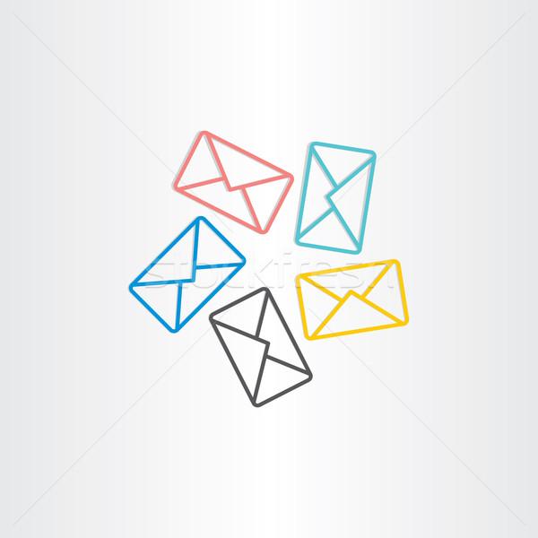 postal envelopes icon design Stock photo © blaskorizov