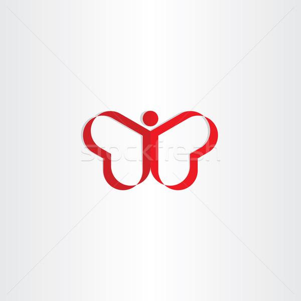 赤 熱 男 蝶 シンボル デザイン ストックフォト © blaskorizov