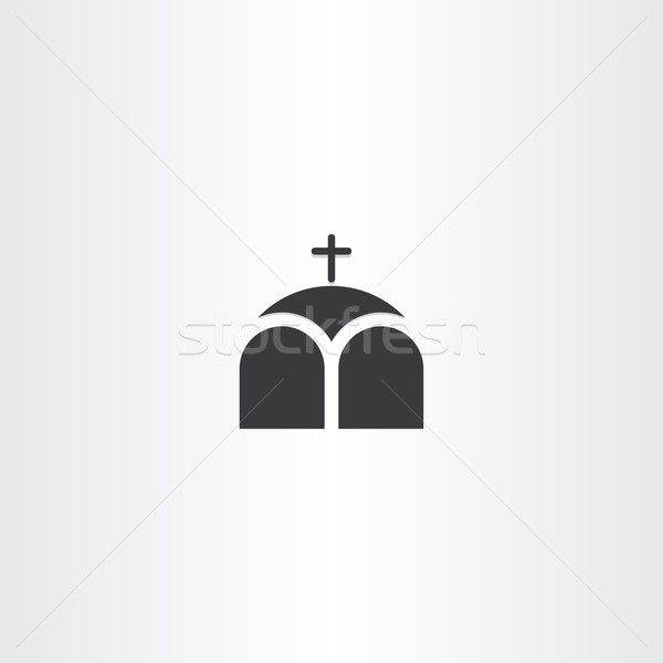 church or chapel cross icon Stock photo © blaskorizov