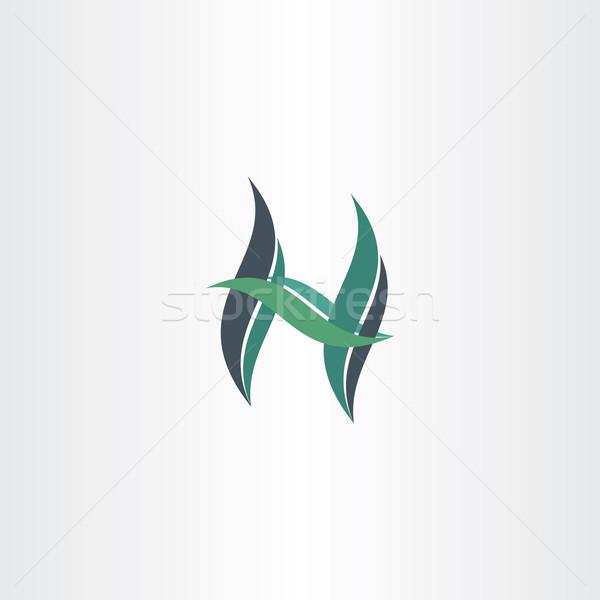 green leaf letter h ecology icon Stock photo © blaskorizov