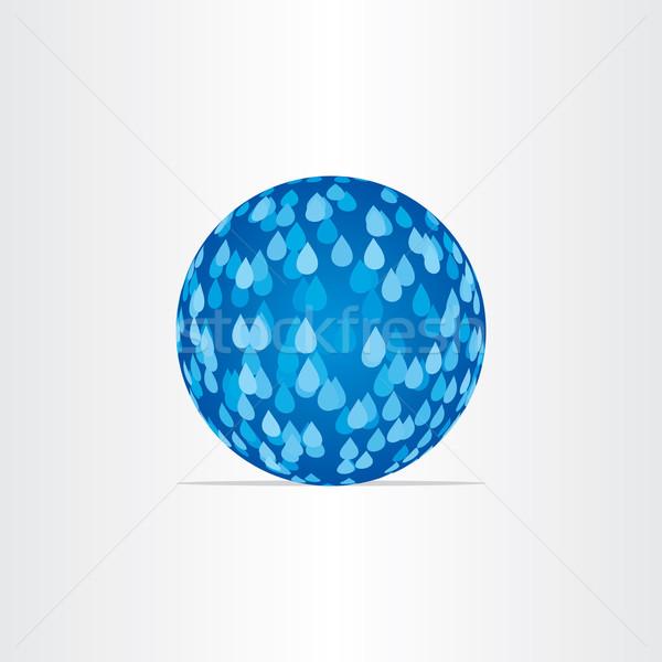 blue abstract globe with rain drops Stock photo © blaskorizov